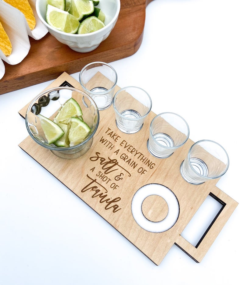 Tequila Shot Flight Tray Bachelorette Party Gift