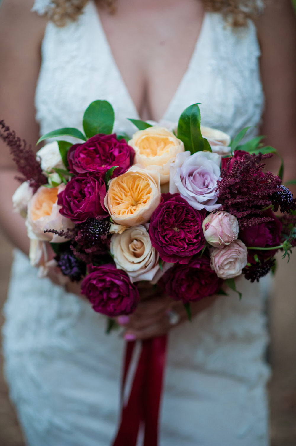 elegant bridal bouquet vineyard wedding - tips for working from home and planning wedding from The Garter Girl