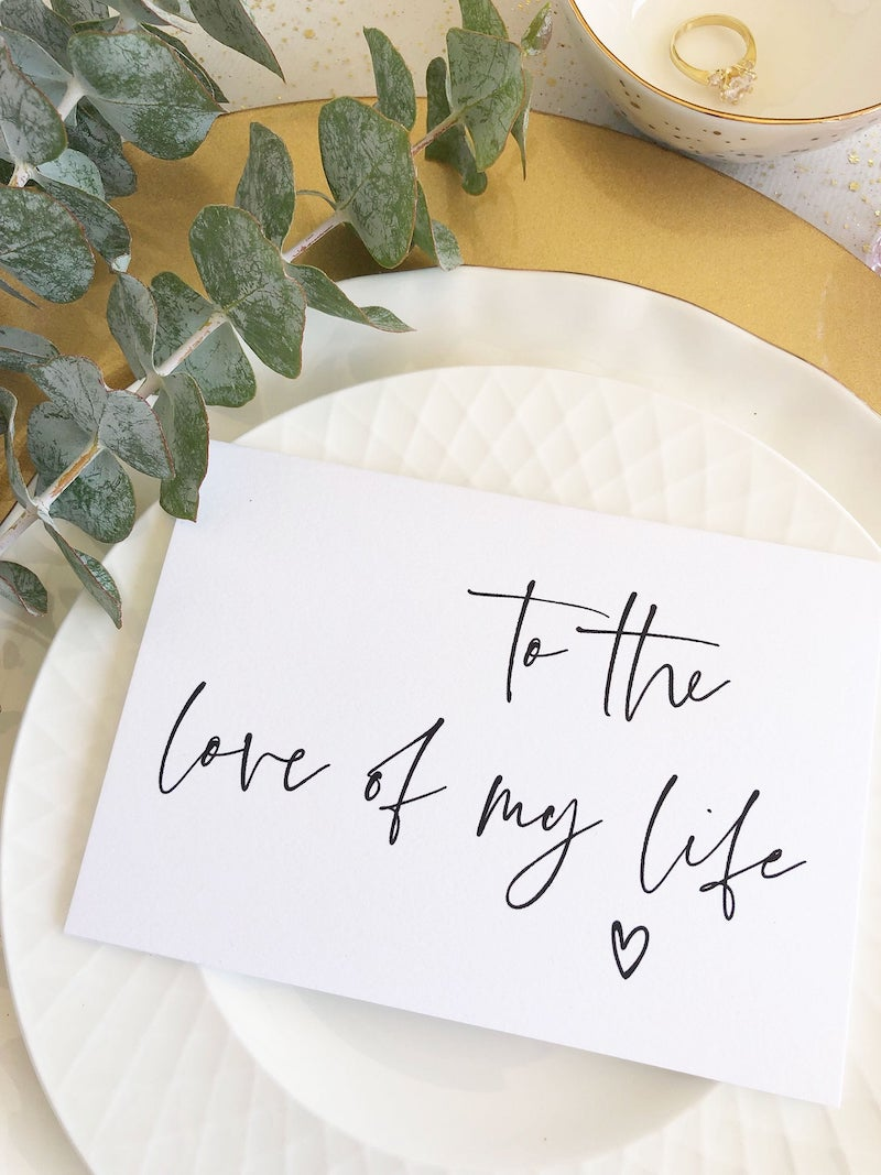To The Love of My Life Card Wedding Day Card