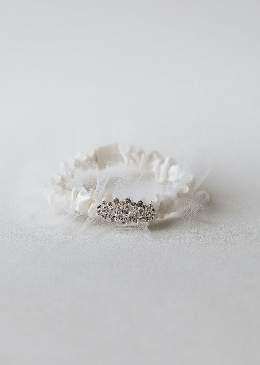 tulle and sparkle personalized wedding garter handmade heirloom by The Garter Girl