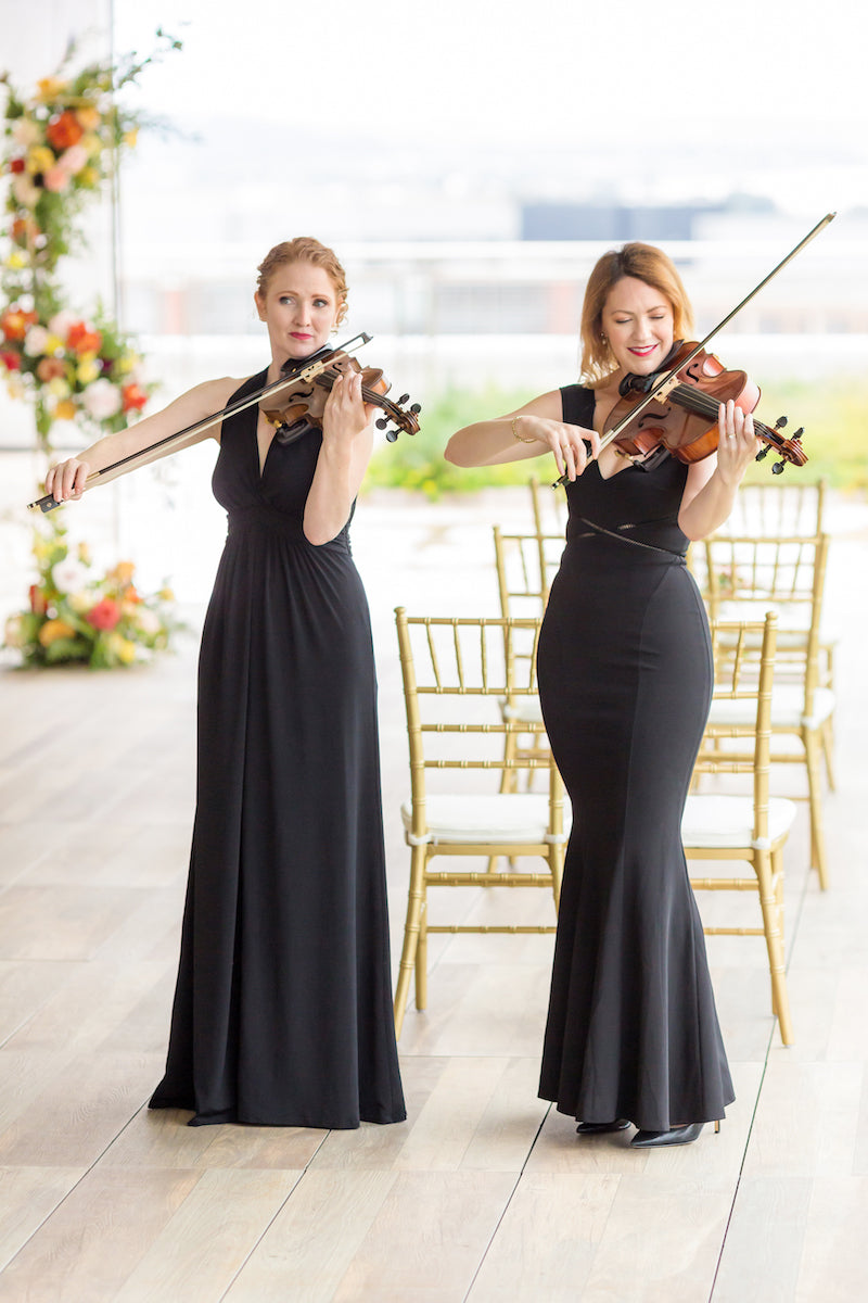 Violinists at Intimate Vow Renewal