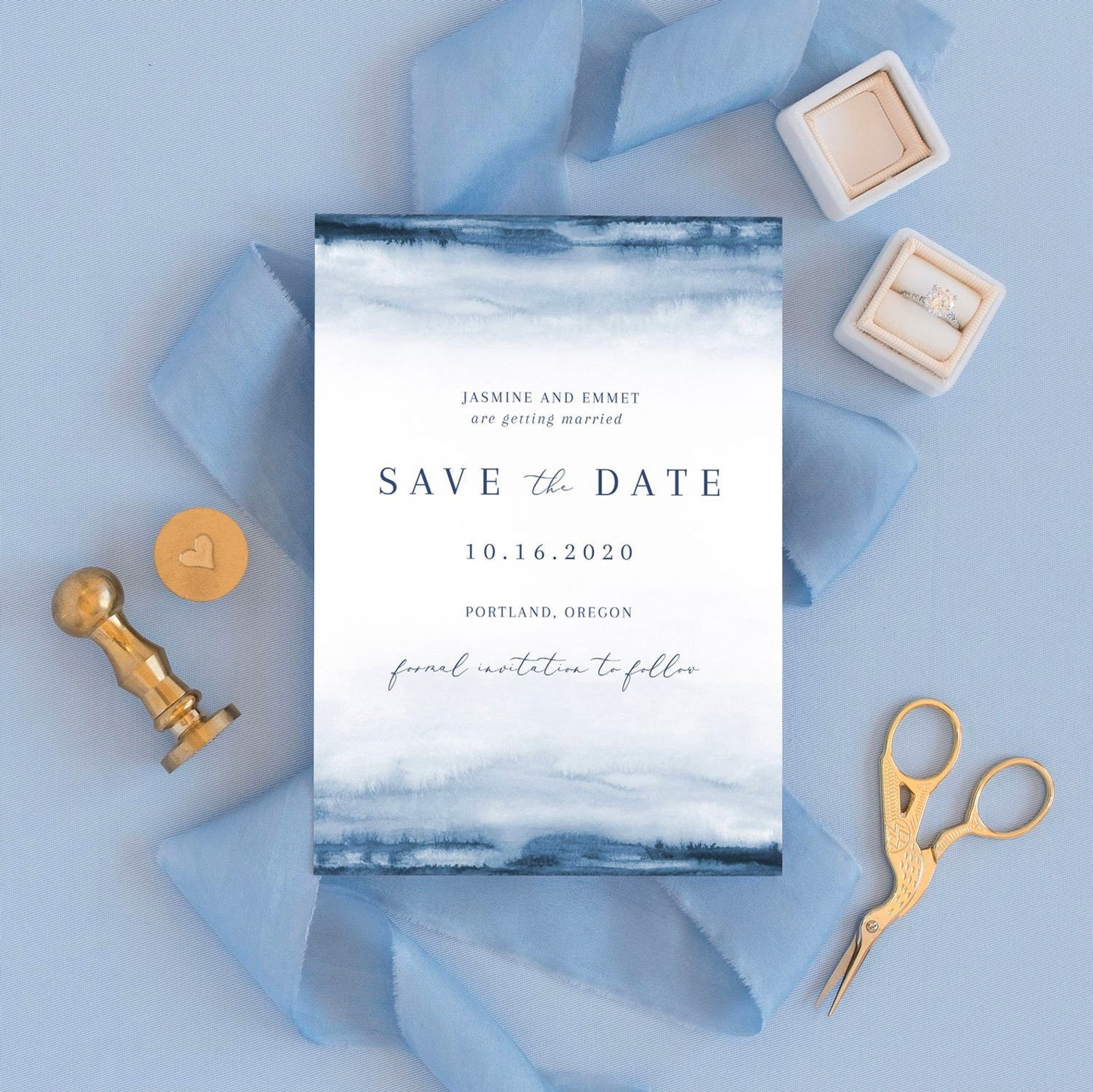 Watercolor Save the Date Printable
