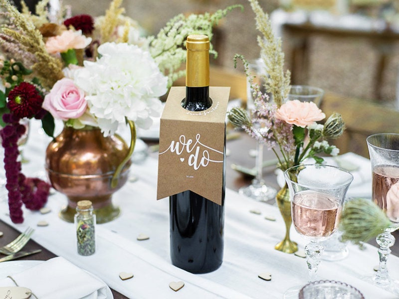 We Do Wine Bottle Hanger Wedding Decorations