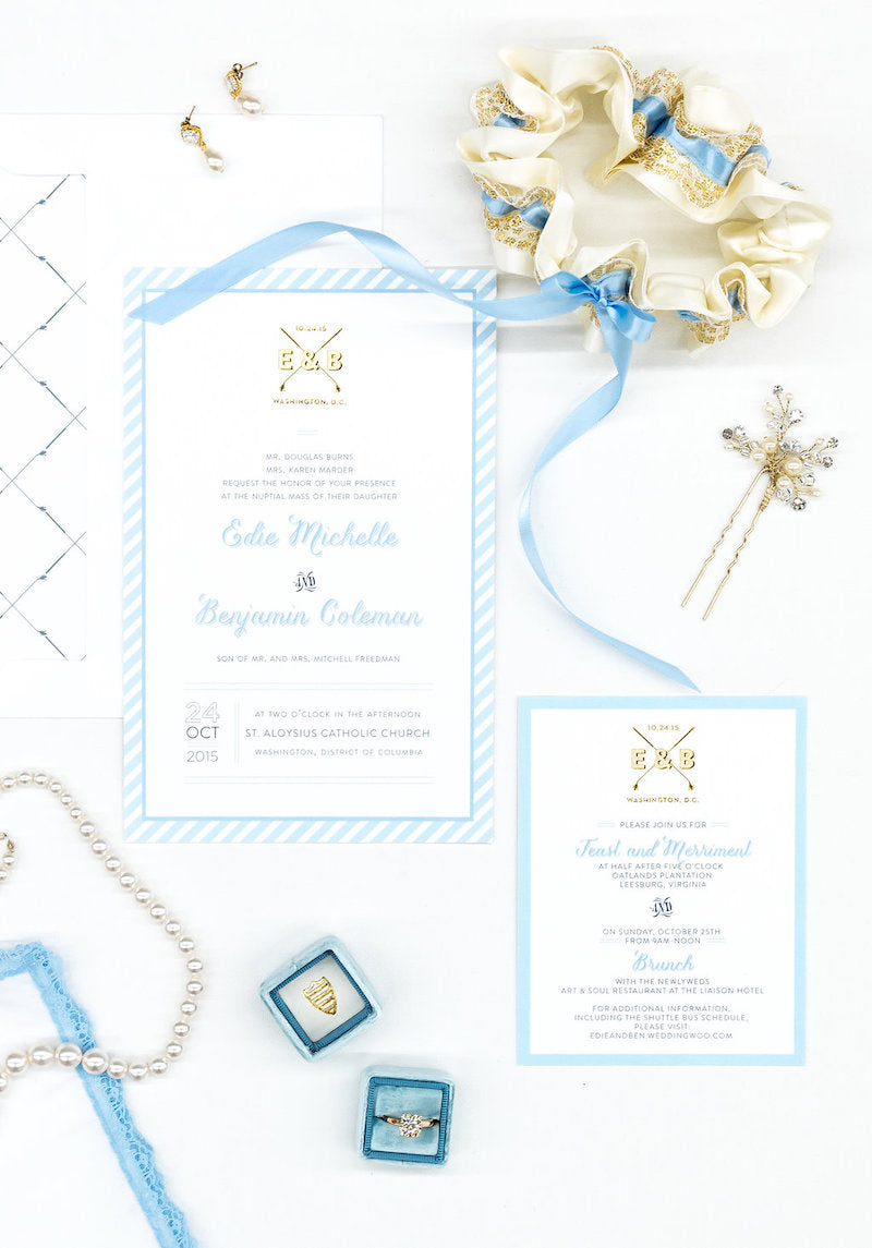 Wedding Invitation Suite and Heirloom Garter - Time Saving Wedding Planning Tips