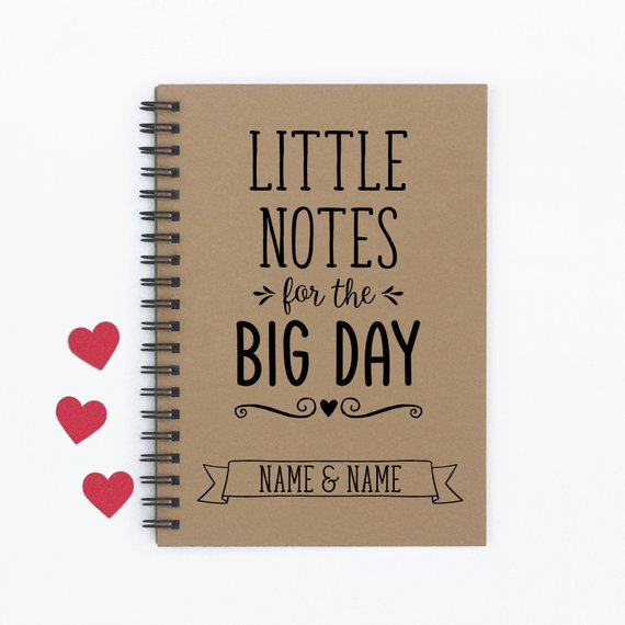 wedding notebook wedding engagement gift