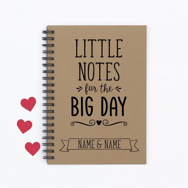 wedding planning notebook gift for engaged couple