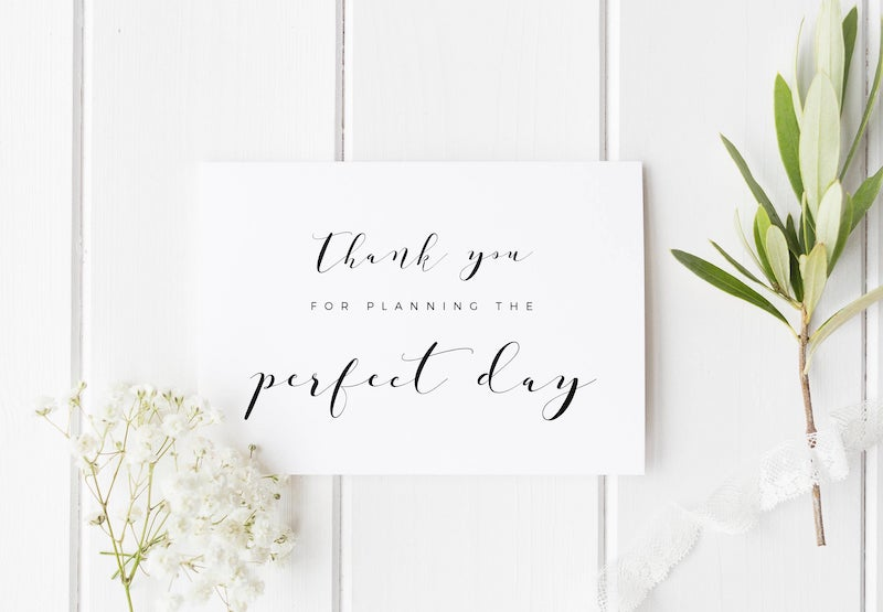 Wedding Planner Thank You Note