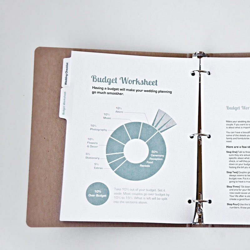 Wedding Planner with Budget Worksheet