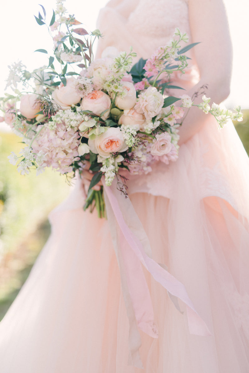 blush wedding dress - what to do when you first get engaged