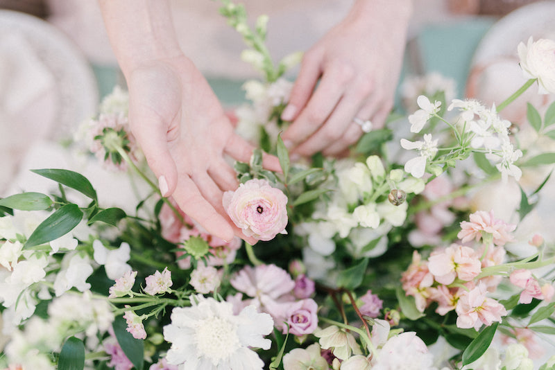 blush and ivory wedding flowers - what to do when you first become engaged