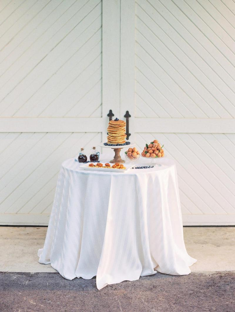 White Satin Stripe Tablecloth