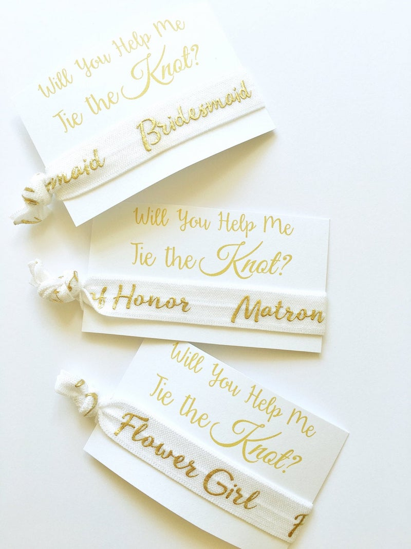 Will You Be My Bridesmaid Hair Ties