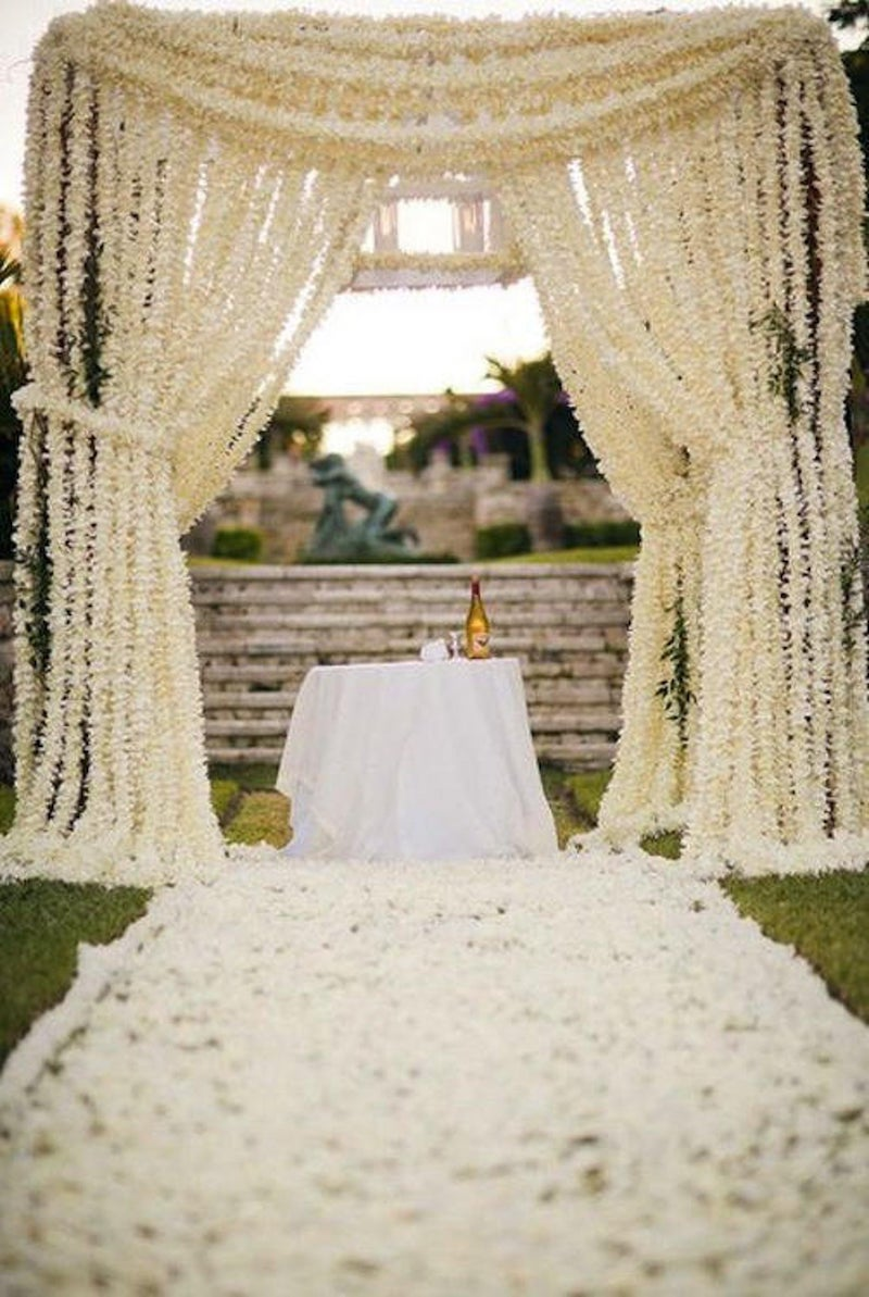 Wisteria Garland Winery Wedding Ceremony Arch