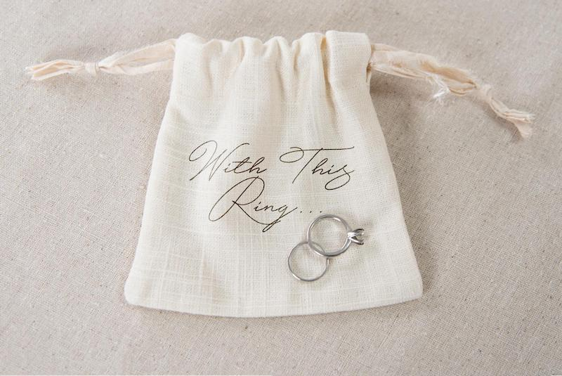 With This Ring Linen Ring Bag