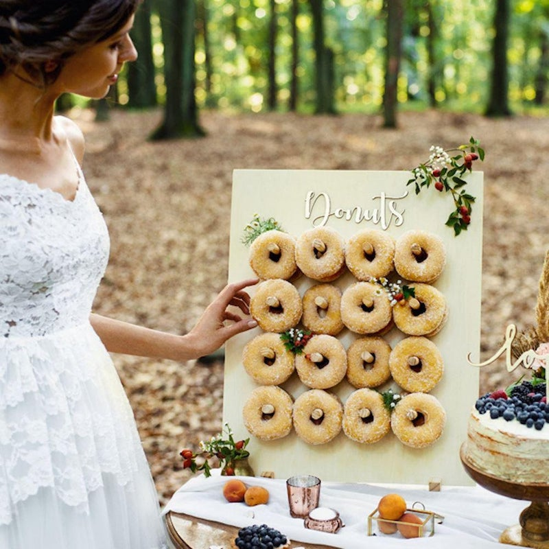 Wood Donut Stand for Wedding Donut Bar
