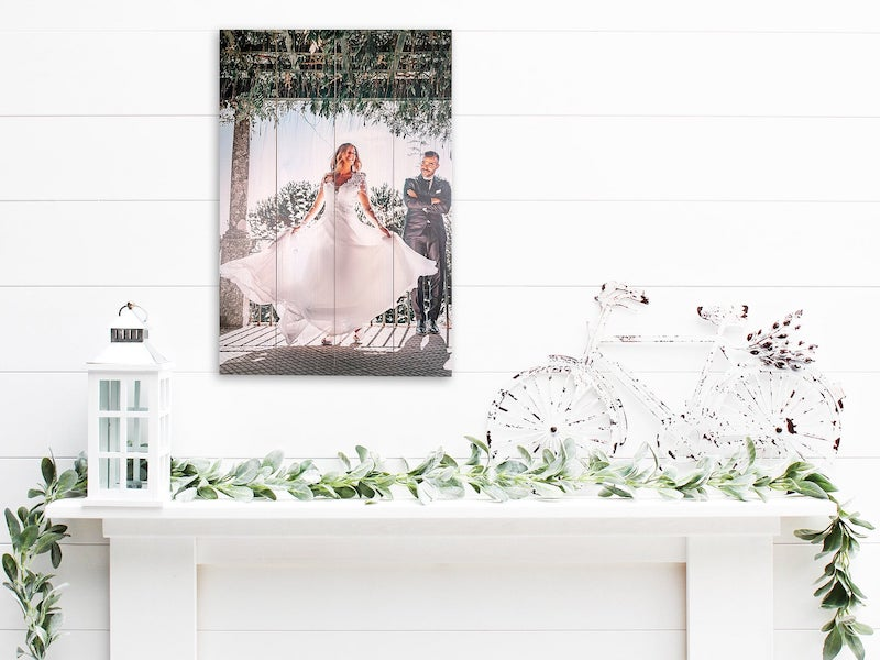 Wood Pallet Wedding Photo Home Decor