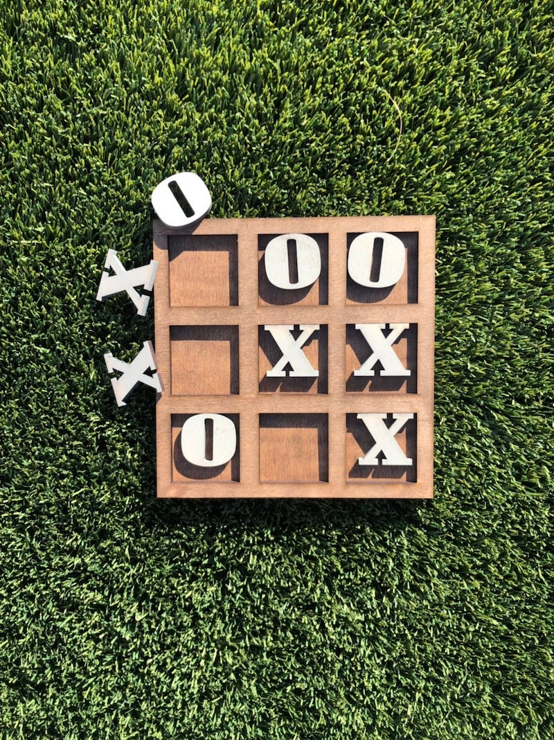 Wood Tic Tac Toe Game for Kids at Wedding