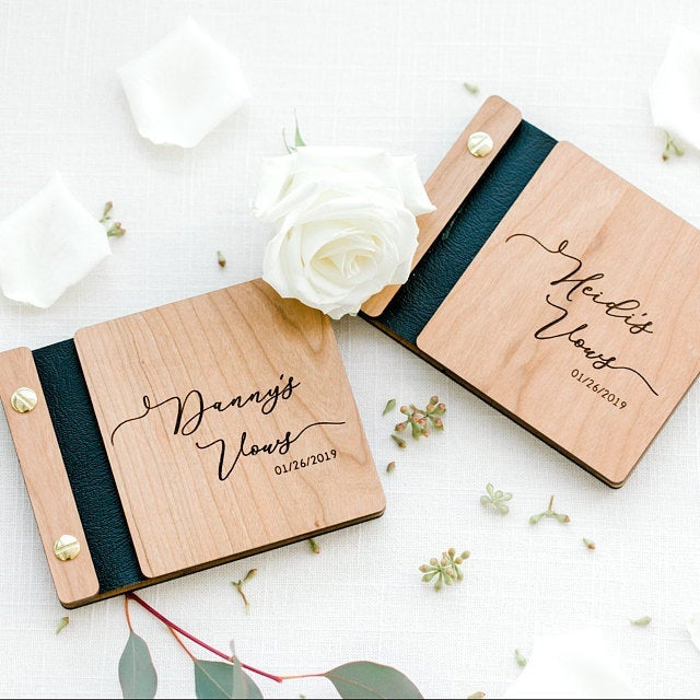 Wooden Vow Books Wedding Day Keepsakes