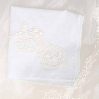 wedding dress lace custom handkerchief handmade by The Garter Girl