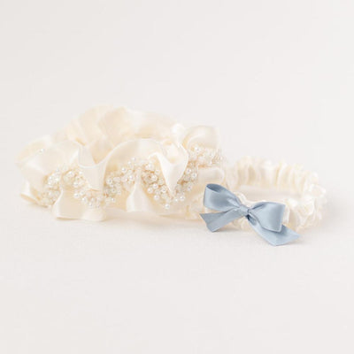Shop our heirloom wedding garter sets handmade by luxury wedding garter designer, The Garter Girl