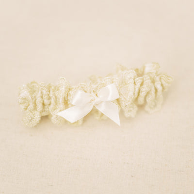 Gold lace heirloom wedding garter handmade by The Garter Girl