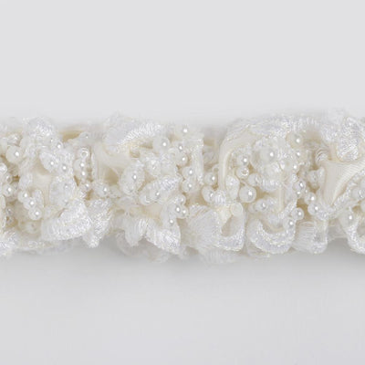 pearl wedding garter heirloom - Little Miss Vixen by The Garter Girl