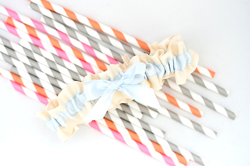 1stripe-straws-blue-bridal-garter-The-Garter-Girl