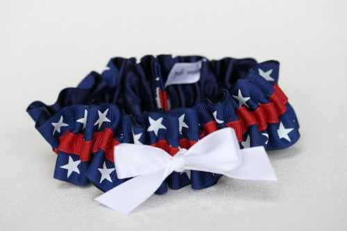 Custom Patriotic Bridal Garter