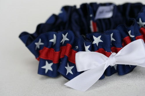 Custom Patriotic Wedding Garter