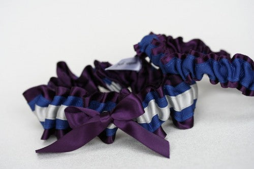 Custom Purple Bridal Garter Set