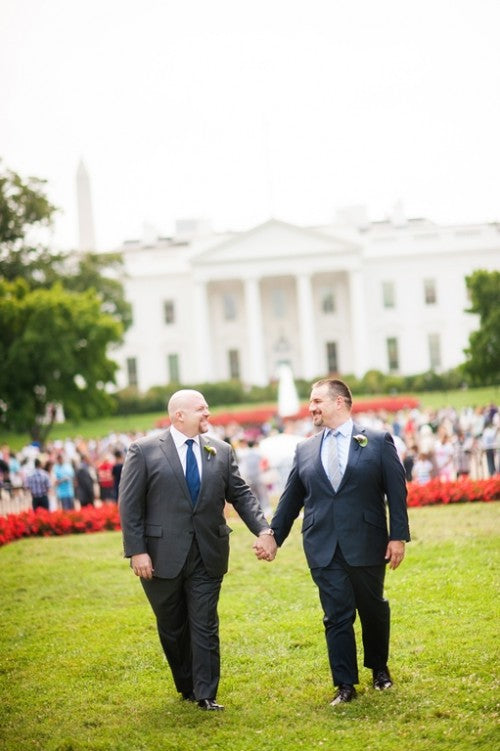 Wedding of Ron Mennow and Jon Pyatt at the Decatur House in Washington, DC Saturday, August 30, 2014. (© 2014 Michael Connor / Connor Studios)