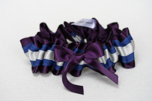 Deep Plum Wedding Garter