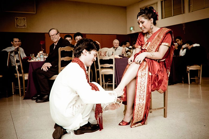 Indian-themed-wedding-garter-toss-The-Garter-Girl-by-Julianne-Smith