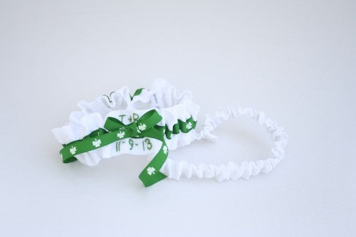 Irish Theme Wedding Garter