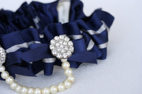 Navy Blue Bridal Garter (2)