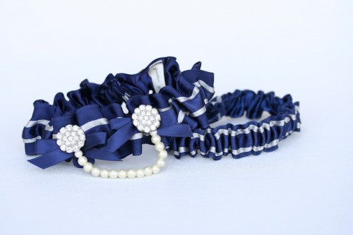Navy Blue Bridal Garter (3)
