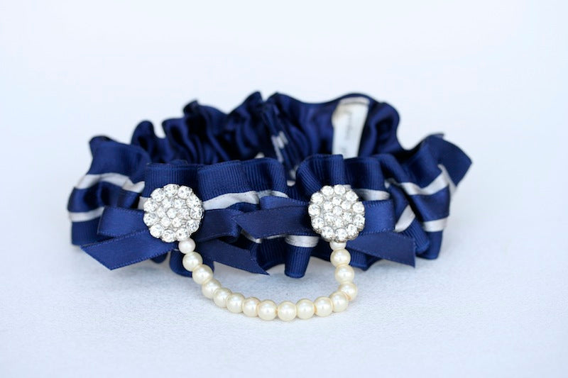 Navy-and-Pearl-Bridal-Garter-2
