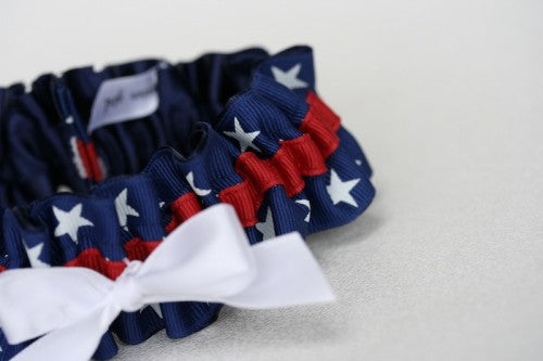 Patriotic Wedding Garter
