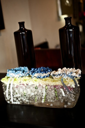 Something-blue-wedding-garters-at-Vastu-furniture-store-The-Garter-Girl-by-Julianne-Smith