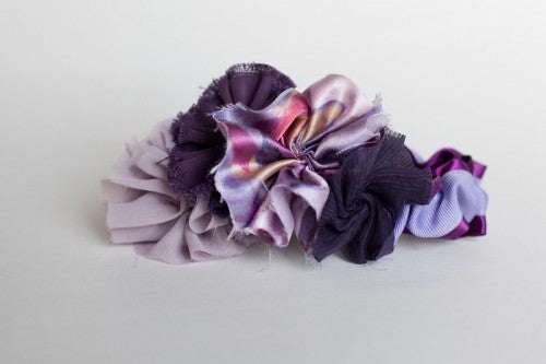 Wedding garter - Couture - Purple, eggplant, orchid, lavender, flower - Purple Goddess - The Garter Girl by Julianne Smith 1 copy