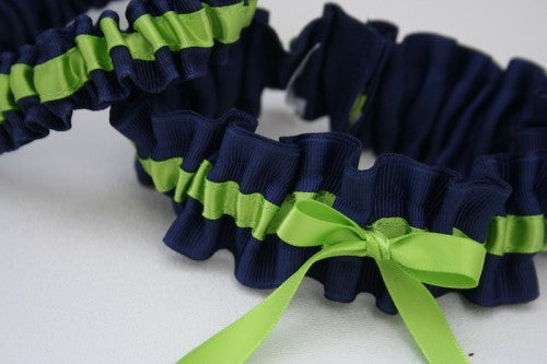 apple-green-navy-wedding-garter-The-Garter-Girl