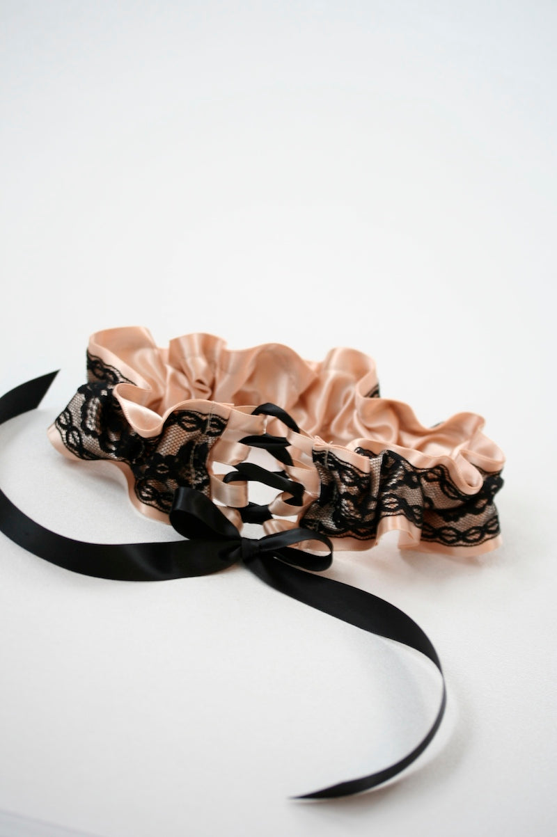 corset tie wedding garter