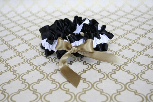 black-white-gold-wedding-garter-The-Garter-Girl-1