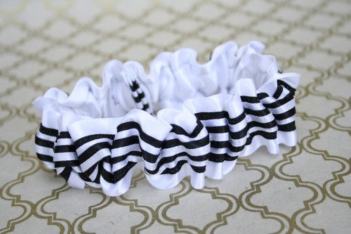 black-white-stripe-wedding-garter-The-Garter-Girl
