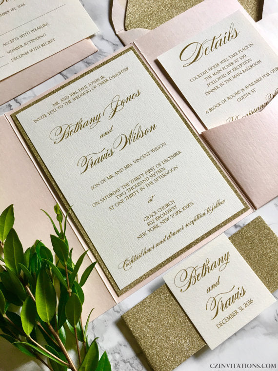 blush-gold-glitter-wedding-invitation