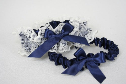 bridal-garter-navy-blue-ivory-lace-The-Garter-Girl.JPG