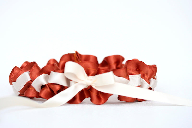 burnt-orange-wedding-garter-The-Garter-Girl