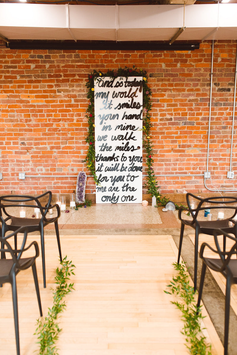 ceremony-decor-rock-n-roll-wedding-ideas