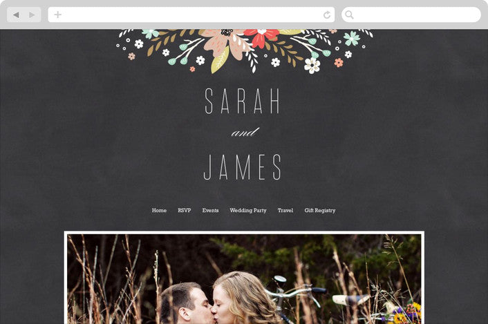 chalkboard-floral-wedding-website-design