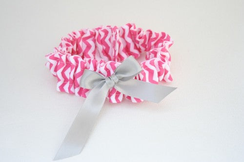 chevron-wedding-garter-hot-pink-gray-The-Garter-Girl-1